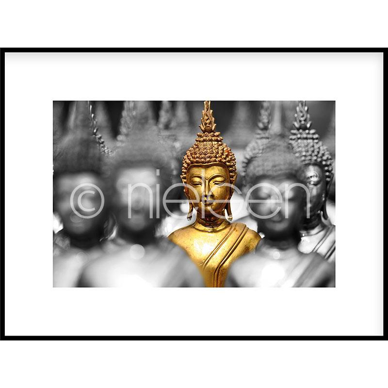 "Gerahmtes Bild ""Buddha in gold"" mit Alurahmen C2"