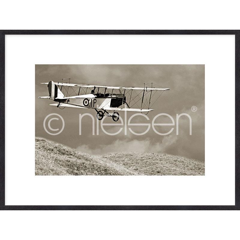 """Gerahmtes Bild """"Historic Plane"""" mit Holzrahmen Quadrum"""