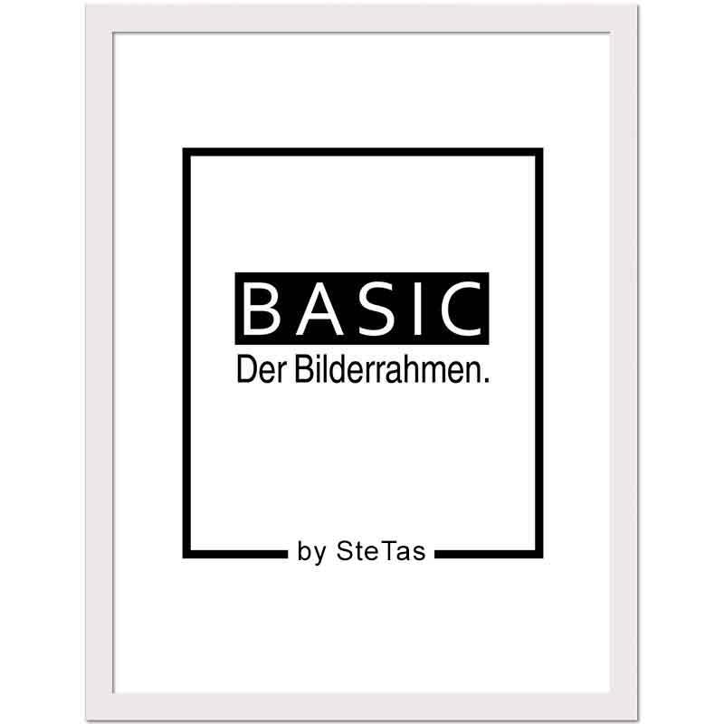 Holz-Bilderrahmen Basic 20x30 cm | Weiß | Kunstglas