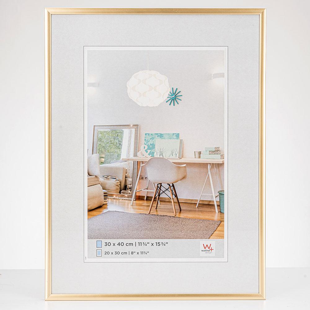 New Lifestyle Kunststoffrahmen 20x30 cm   Gold   Normalglas