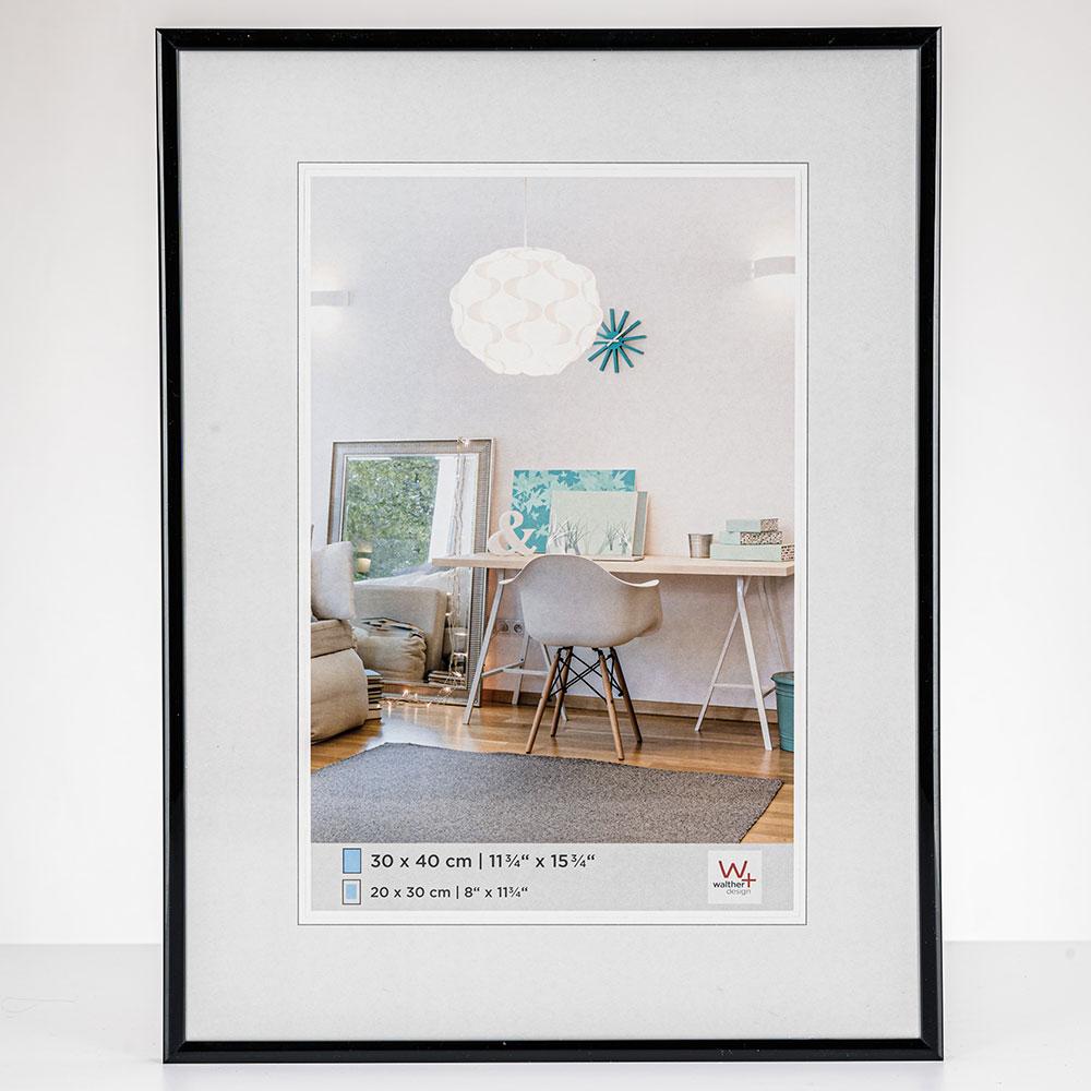 New Lifestyle Kunststoffrahmen 50x70 cm | Schwarz | Normalglas