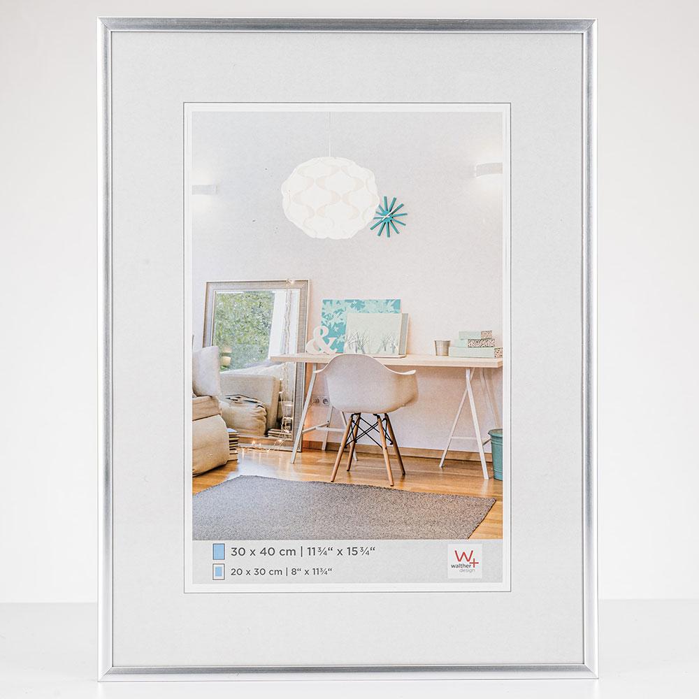 New Lifestyle Kunststoffrahmen 21x29,7 cm (A4) | Silber | Normalglas