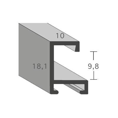 aicham larson juhl alu bilderrahmen serie 403 20x30 cm silber matt geb rstet normalglas. Black Bedroom Furniture Sets. Home Design Ideas