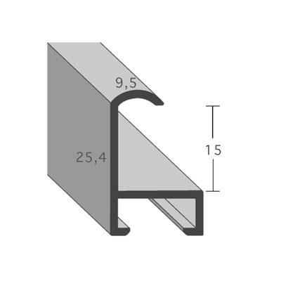 aicham larson juhl alu bilderrahmen serie 415 70x100 cm eco silber matt normalglas. Black Bedroom Furniture Sets. Home Design Ideas
