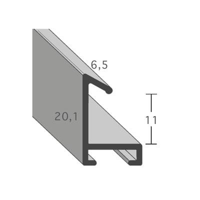 aicham larson juhl alu bilderrahmen serie 421 70x100 cm silber matt geb rstet normalglas. Black Bedroom Furniture Sets. Home Design Ideas