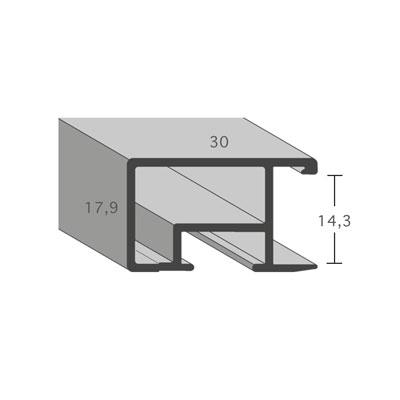aicham larson juhl alu bilderrahmen serie 469 20x30 cm silber matt geb rstet normalglas. Black Bedroom Furniture Sets. Home Design Ideas