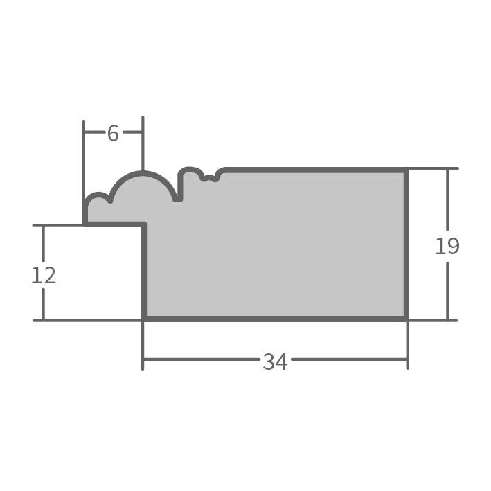 fdm holzrahmen barnafoss 10x15 cm grau leerrahmen ohne glas r ckwand. Black Bedroom Furniture Sets. Home Design Ideas