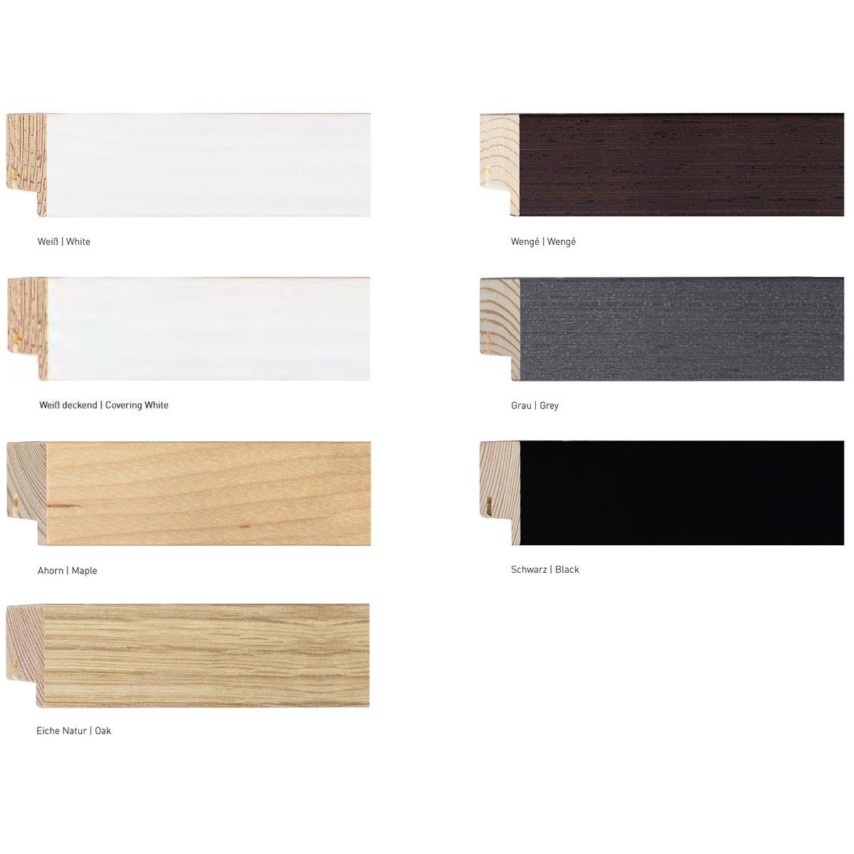 nielsen holzrahmen sonderzuschnitt xl 23 schwarz leerrahmen ohne glas r ckwand. Black Bedroom Furniture Sets. Home Design Ideas