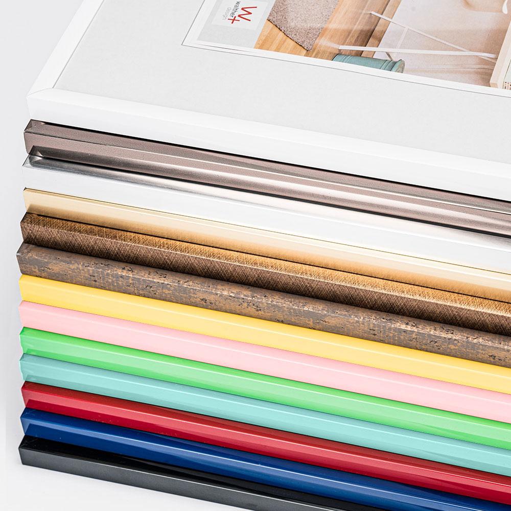 walther new lifestyle kunststoffrahmen 60x80 cm schwarz normalglas. Black Bedroom Furniture Sets. Home Design Ideas